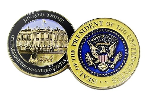 Donald Trump, 45th President, Signed Inauguration Challenge Coin, 3D, in Plastic Case 45MM Big (45mm Coin)