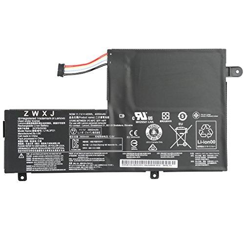 ZWXJ Laptop Battery L14L3P21 L14M3P21(11.1V 45WH 4050MAH)For Lenovo Flex 3-1470 Flex 3-1570 Edge 2-1580