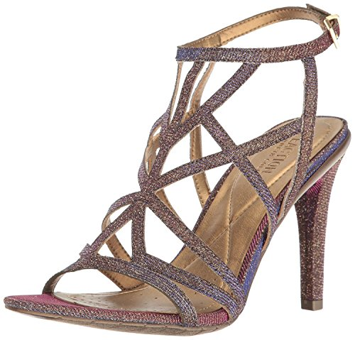 Kenneth Cole REACTION Women's Smash-Ing Dress Sandal, Gold/Multi, 10 M - Heels Multi Gold