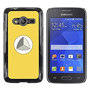 LECELL--Funda protectora / Cubierta / Piel For Samsung Galaxy Ace 4 G313 SM-G313F -- Mathematics Trigonometry Yellow --