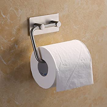 Amazon Com Kes Self Adhesive Toilet Paper Holder Stainless Steel Tissue Paper Roll Towel Holder