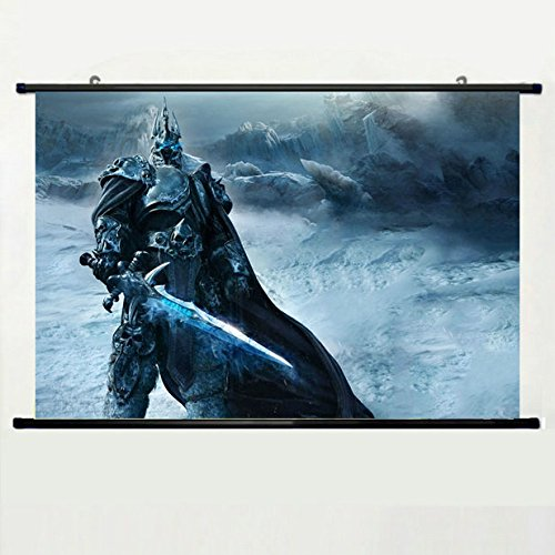 Wall Scroll Poster with Game Warrior World Of Warcraft Wrath