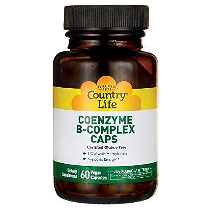 Country Life, Gluten Free, Coenzyme B-Complex Caps, 60 Veggie Caps