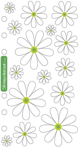 Sticko Classic Stickers, Daisies