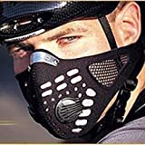 Hi-crazystore Black Respirator Mask Dust proof Mask With Filtered Activated Carbon Filtration Exhaust Gas Anti Pollen Allergy PM2.5 Half Face Mask