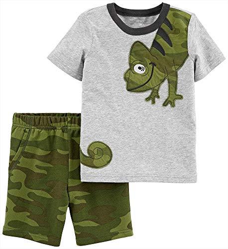 Carter's Baby Boys' 2 Pc Playwear Sets 249g396 (3T, Heather/Green/Camo)