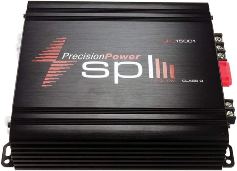 Precision Power SPL Monoblock Car Amplifier Car Electronics Audio Subwoofer 1 Ohm Stable Bass Boost Crossover MOSFET Power Supply for Car Speakers Sub Amp Class D Monoblock Amplifier 1500 Watt