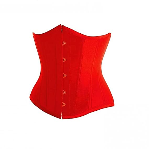 7c2b3fa828 Image Unavailable. Image not available for. Colour  Red Satin Goth Burlesque  Costume Bustier Waist ...