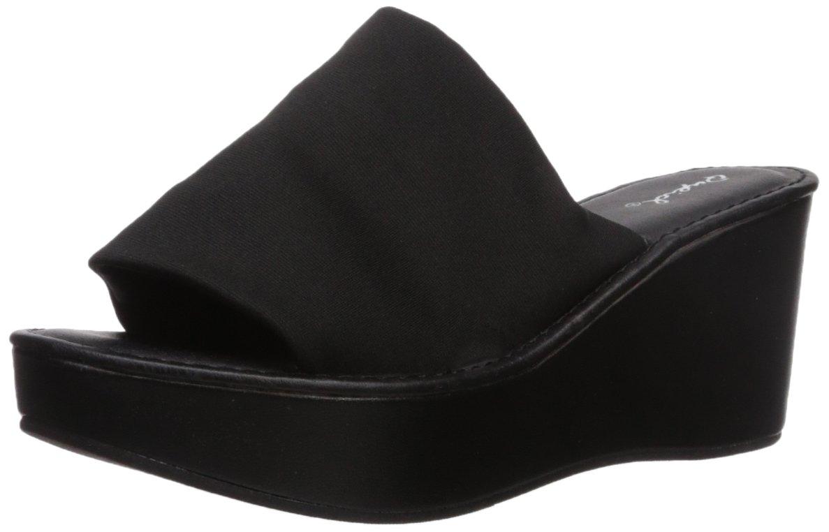 Qupid Women's Bali-55X Wedge Sandal B074NGMQ4Q 7 B(M) US Black