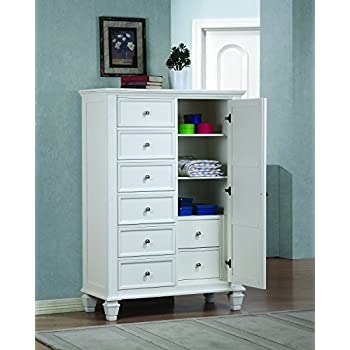 Coaster Sandy Beach Door Chest-White  sc 1 st  Amazon.com & Amazon.com: Coaster Sandy Beach Door Chest-White: Kitchen u0026 Dining pezcame.com