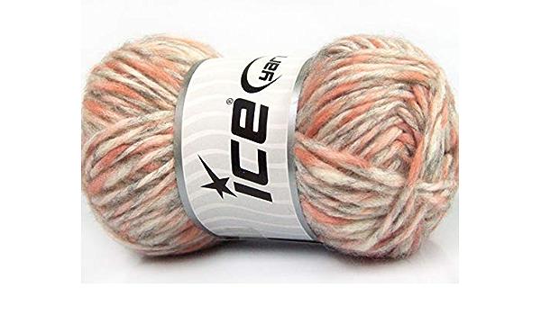 Lote de 6 madejas de hielo para invierno, 27% lana, color ...