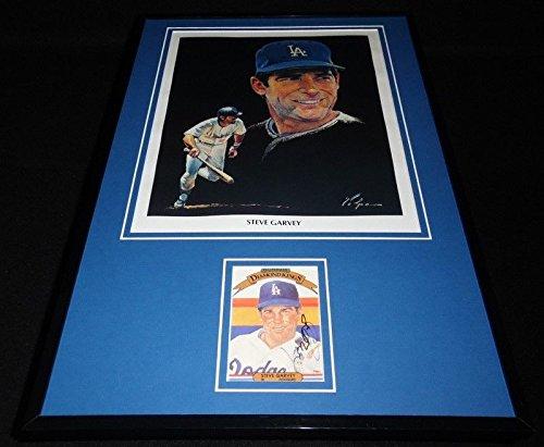Steve Garvey Signed Framed 11x17 Volpe Poster Display LA Dodgers (Steve Volpe)