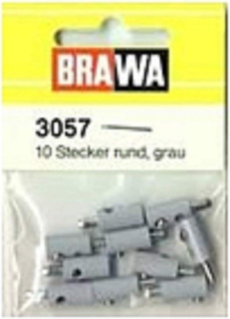 Brawa 3057 Querlochstecker 2,5 grau 10 St/ück