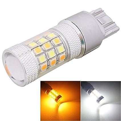 Bombilla de coche MZ T20 8W 420LM blanco + luz amarilla 42 LED 2835 SMD luz