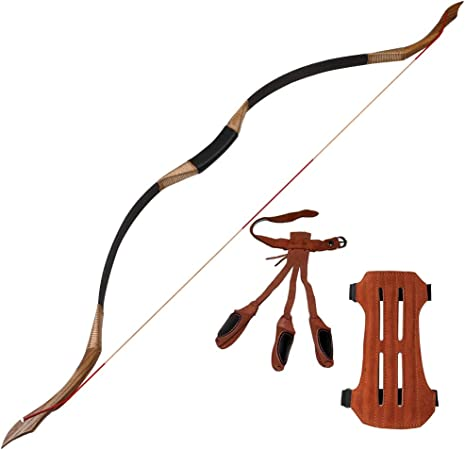 Traditional Archery Hunting Recurve Bow Mongolian Horse Bow Longbow 30-55lbs