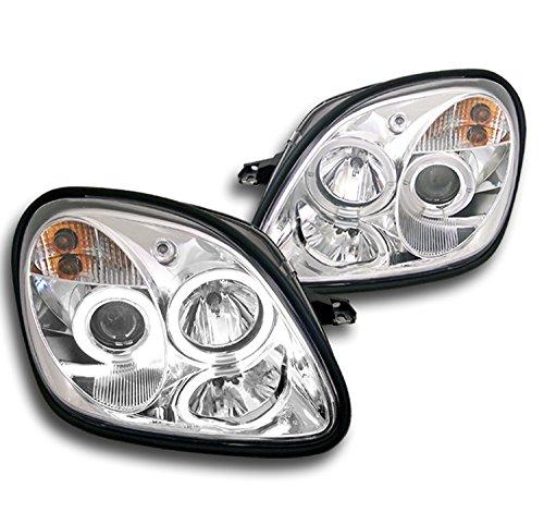 Mercedes Projector Headlights - ZMAUTOPARTS Mercedes Benz R170 Slk Dual Halo Projector Headlight Chrome