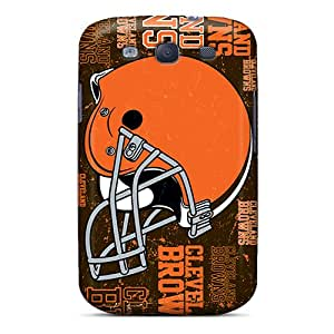 EricHowe Samsung Galaxy S3 Protector Hard Cell-phone Case Custom Stylish Cleveland Browns Pattern [zQm3752MZsY]