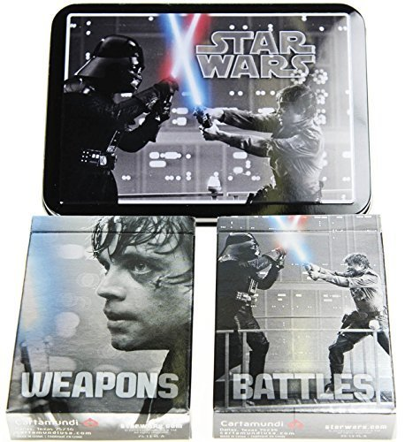 Star Wars Weapons & Battles Illustrated Double Deck Playing Cards in Collectible Tin