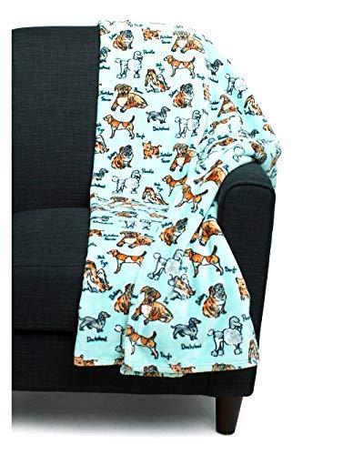 City Chic Dog Lover Velvety Soft Plush Throw Blanket (60