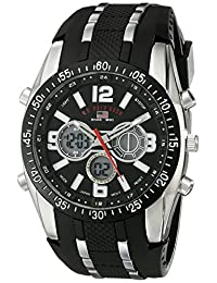 U.S. Polo Assn. Sport Men's US9281 Black Analog-Digital Chronograph Watch