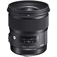Sigma 401101 for Canon EF Cameras 24mm f/1.4 Wide-Angle-Prime Lens Fixed Prime (International Model) No Warranty