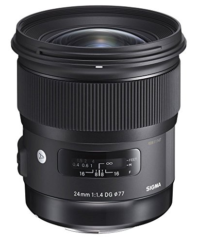 Sigma 24mm f/1.4 DG HSM A Wide-Angle-Prime Lens for Nikon F-Mount Cameras -...