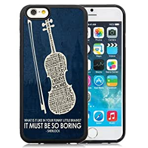 Grace Protective,DIY Iphone 6 Case Design with Design in Sherlock Black TPU Phone Case for Iphone 6th 4.7 Inch
