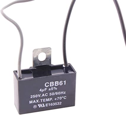 CHUANGNENG CBB61 250V AC 4uf 2 Wire Start Capacitor for Ceiling Fan US  Stock - - Amazon.comAmazon.com