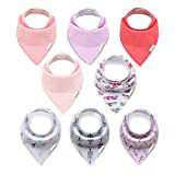 ALVABABY Baby Drool Bandana Bibs For Drooling Teething Feeding Adjustable Resuable Super Absorbent 100% Cotton Girls Baby Gifts 10 Pack 8SD34