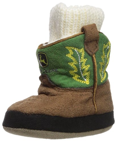 John Deere Baby Boys' Infant Slippers, Green, 0/6M