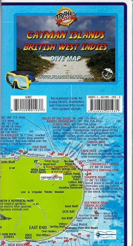Franko's Map of The Cayman Islands (English, Spanish, French, Italian, German, Japanese, Russian, Ukrainian, Chinese, Hindi, Tamil, Telugu, Kannada, ... Gujarati, Bengali and Korean Edition)