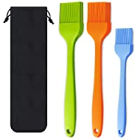 Basting Brush Silicone Heat Resistant Pastry Brushes Spread Oil Butter Sauce Marinades for BBQ Grill Barbecue Baking…