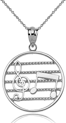 Sterling Silver Treble Clef Charm