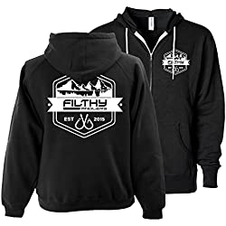 Filthy Anglers Men's Fishing Hoodie Full Zip Sweatshirt Unisex Women's Adult XL (X-Large)