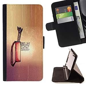 BullDog Case - FOR/Sony Xperia Z1 L39 / - / Werewolf Hunting /- Monedero de cuero de la PU Llevar cubierta de la caja con el ID Credit Card Slots Flip funda de cuer