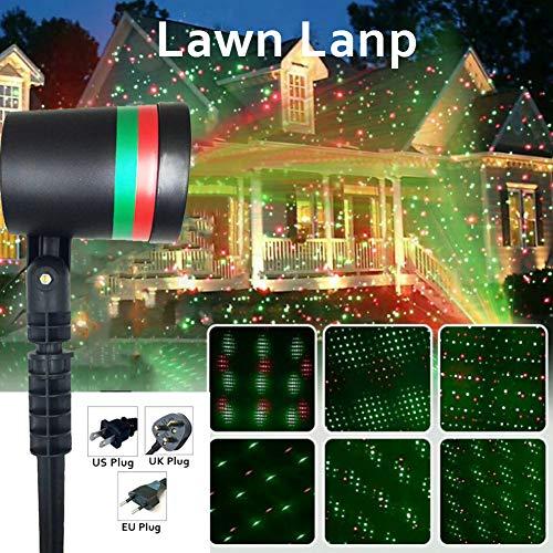 Path Lights, Garden Lights, yanQxIzbiu Christmas Star Laser Projector Light LED Moving Outdoor Landscape Stage RGB Lamp - EU Plug
