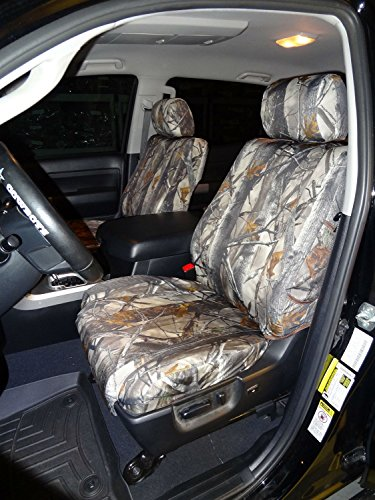 Toyota Tundra Double Cab Front and Back Seat Set in Camo Endura. Front Buckets with Airbags and Rear 60/40 Split Bench