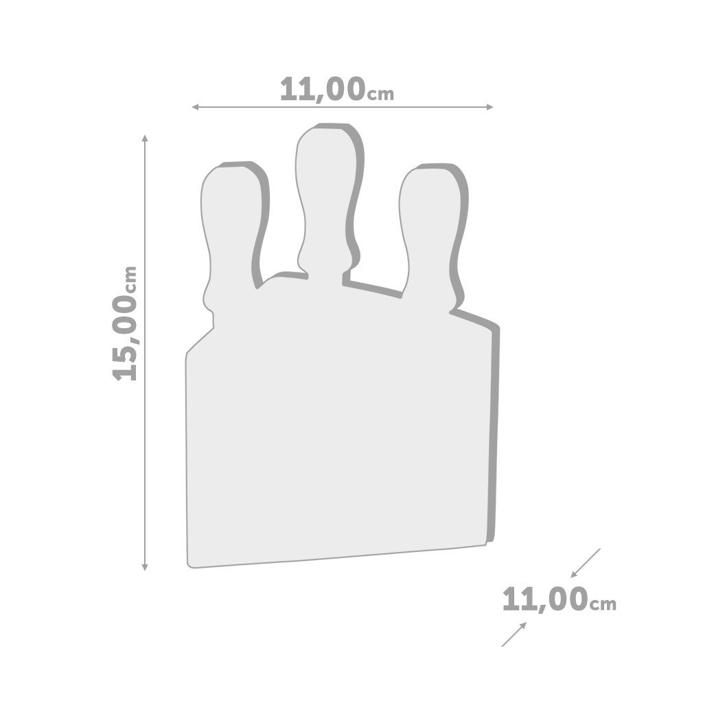 Balvi/-/Set/de/Utensilios/para/Queso lH/édoniste./Cuchillos/para/Queso/con/Soporte/de/Madera.