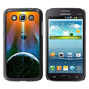 El encendido de Espada De La Tierra - Metal de aluminio y de plástico duro Caja del teléfono - Negro - Samsung Galaxy Win I8550
