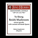 Jing Herbs Reishi Extract Powder With Spores Bulk 250 Grams