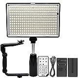 Professional 288 LED 1400 Lumens Video Light with Flash Bracket for Digital SLR Cameras