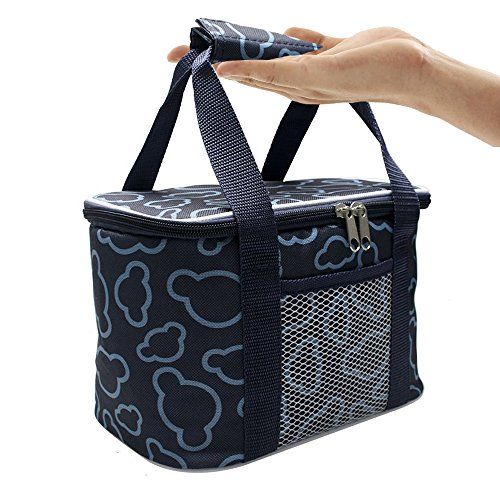 Lunch Box Reusable Insulated Lunch Bag IHOMEARD Large Drinks
