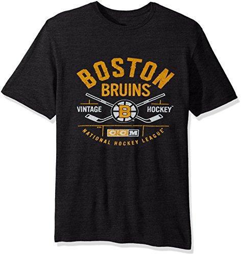 NHL Boston Bruins Men's Even Strength Tri-Blend Short Sleeve Tee, Medium, - Boston Mens Bruins T-shirts