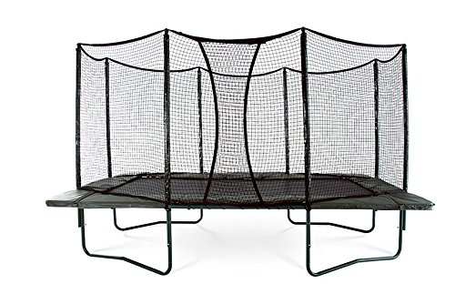 AlleyOOP VariableBounce 10'x17' Trampoline with Enclosure | High Performance Black Springs | 50+ Patent & Safety Innovations | Premier Trampoline System