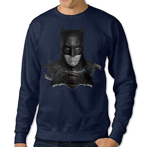 [JXMD Men's Bat V Super Stars & Bars Graphic Crewneck Sweater Navy Size XL] (Caitlyn Jenner Costume)