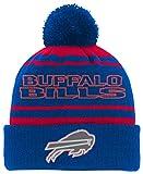 NFL Youth Boys Reflective Cuff Knit Pom Hat-Royal -1 Size, Buffalo Bills