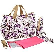 Ecokaki(TM) Fashion Multifunction Diaper Tote Bags Baby Nappy Bag Larger Capacity Mummy Handbag Messenger Bag