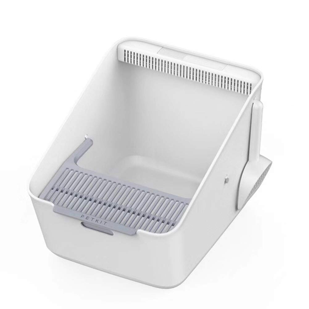NIUSION Inductive Cat Litter Box Open Intelligent Deodorization Plant Filter Pet Toilet Easy to Clean-Large