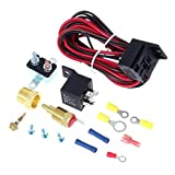 Partssquare Cooling Fan Thermostat Kit Temp Sensor Temperature Switch 40 amp RELAY KIT
