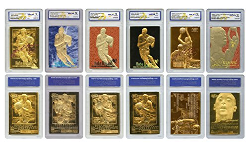 Kobe Bryant Mega-Deal Licensed ROOKIE Cards Graded Gem Mt 10 (SET OF 6) MUST SEE by Merrick Mint
